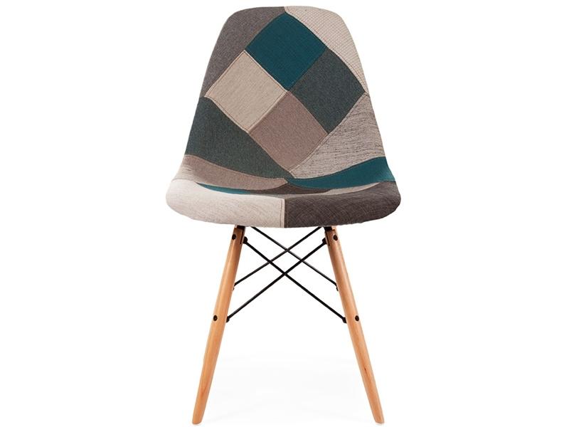 Image of the item Sedia DSW imbottito - Patchwork blu