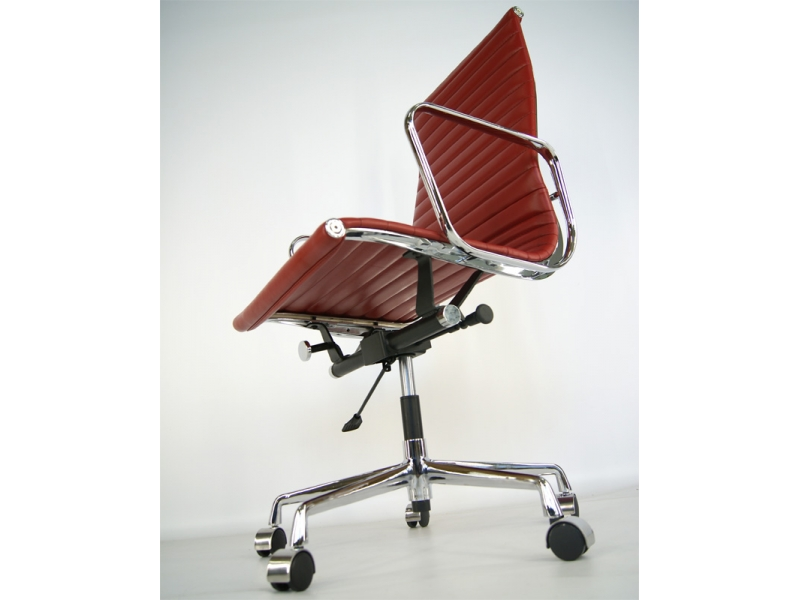 Image of the item Sedia Eames Alu EA119 - Rosso scuro