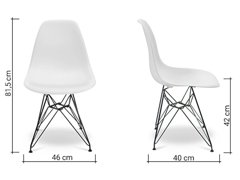 Image of the item Sedia Eames DSR - Bianca