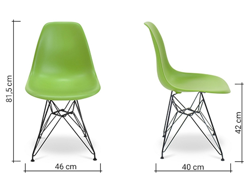 Image of the item Sedia Eames DSR - Verde mela