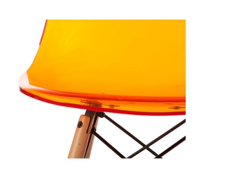 Image of the item Sedia Eames DSW - Arancione trasparente