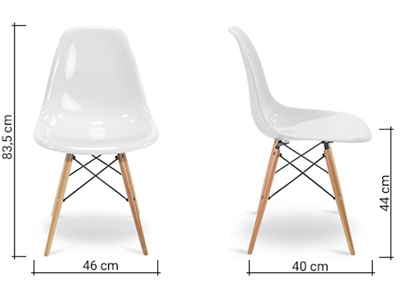 Image of the item Sedia Eames DSW - Bianco lucido