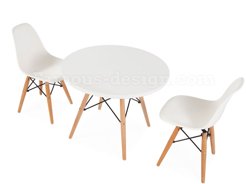 Table enfant eames 2 chaises dsw for Chaise eames enfant