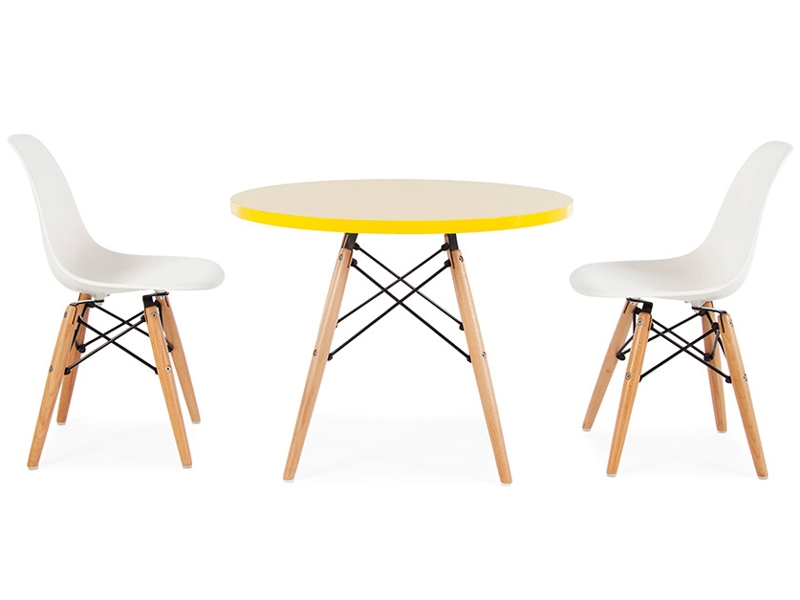 Table enfant eames 2 chaises dsw for Eames chaise enfant