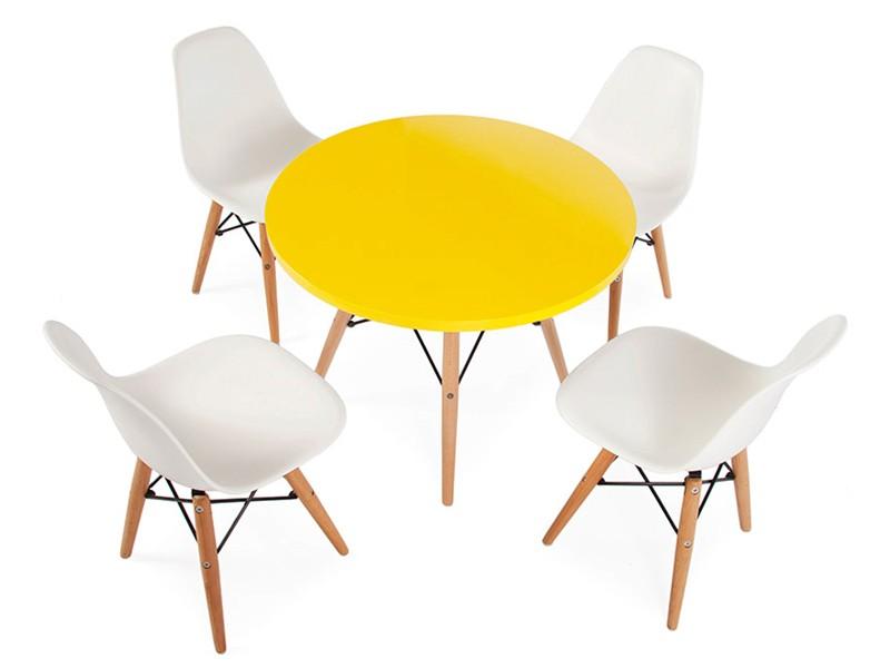 table enfant eames 4 chaises dsw. Black Bedroom Furniture Sets. Home Design Ideas