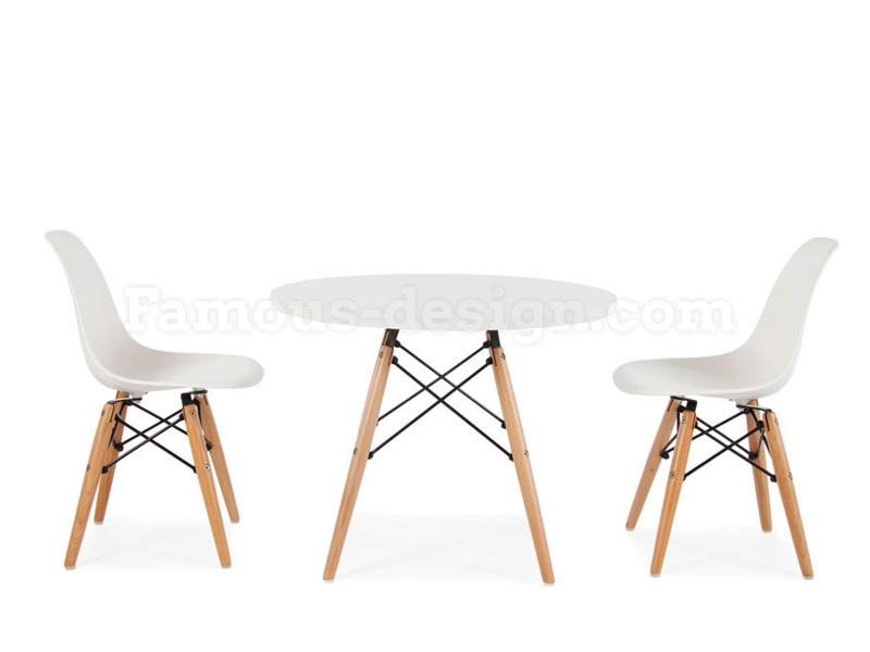 table enfant eames blanc. Black Bedroom Furniture Sets. Home Design Ideas