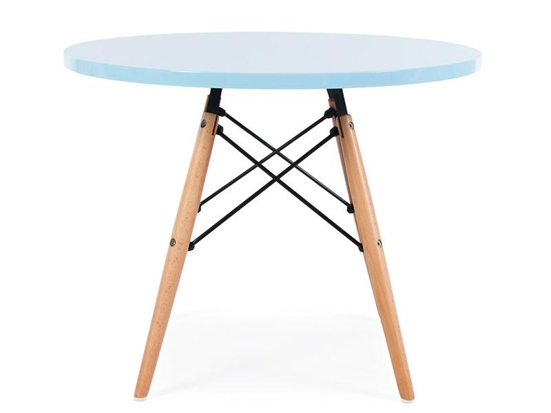 table enfant eames bleu. Black Bedroom Furniture Sets. Home Design Ideas