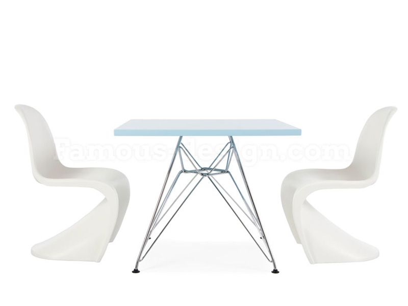 Table enfant eames eiffel bleu for Eames chaise enfant