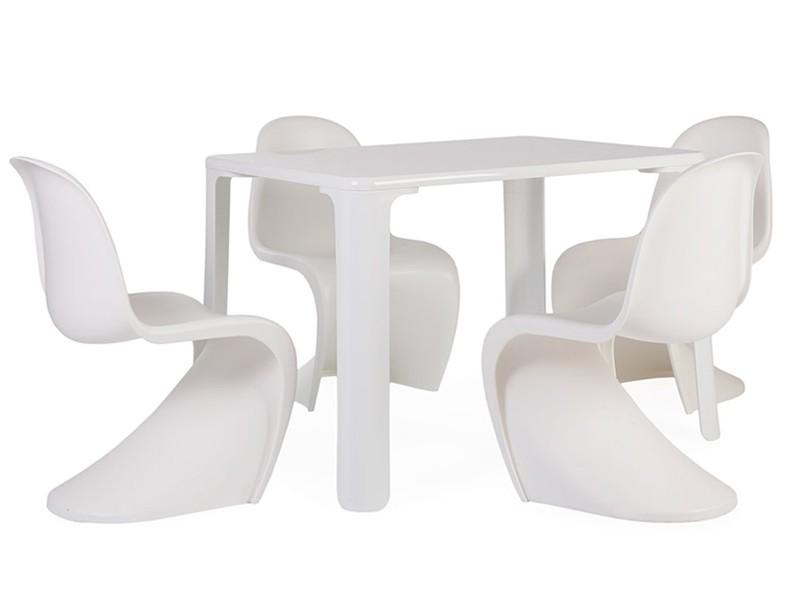 table enfant jasmine 4 chaises panton. Black Bedroom Furniture Sets. Home Design Ideas