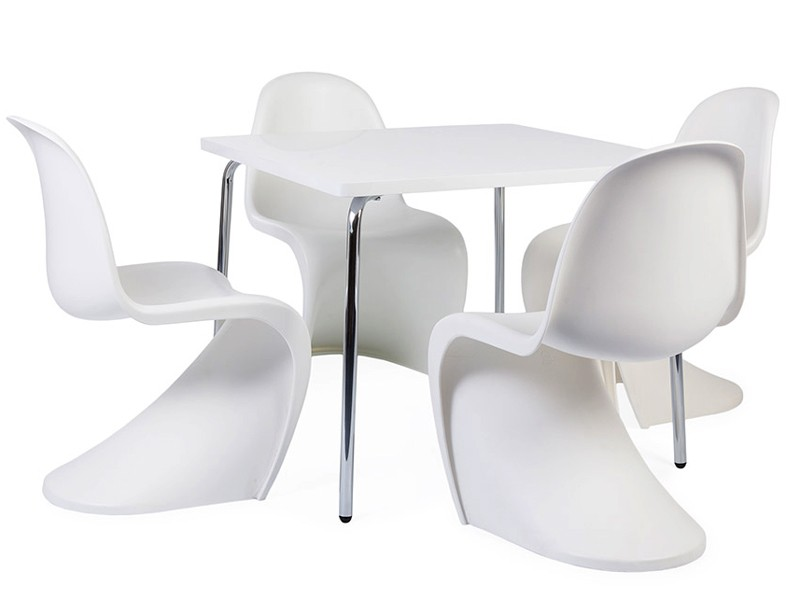 table enfant olivier 4 chaises panton. Black Bedroom Furniture Sets. Home Design Ideas