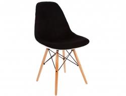 Image de l'article Chaise DSW rembourrée laine - Noir