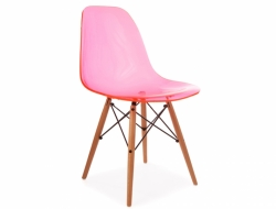 Image de l'article Chaise DSW - Rose transparent