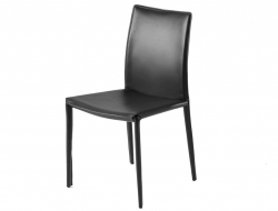 Chaise costa ou amy en cuir blanc marron ou noir for Chaise design italien