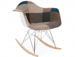 Image de l'article Eames rocking chair RAR - Patchwork bleu