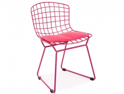 Image of the item Sedia Bambino Bertoia Wire Side - Rosa