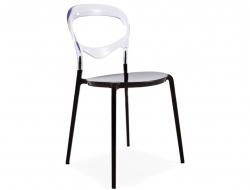 Image of the item Sedia Domino - Trasparente/Nero