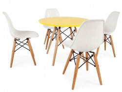 Image de l'article Table enfant Eames - 4 chaises DSW