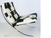 Image de l'article Chaise Barcelona Pony - Noir & blanc