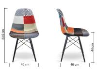 Image de l'article Chaise DSW rembourrée laine - Patchwork