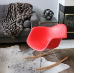 Image de l'article Eames Rocking Chair RAR - Rouge vif