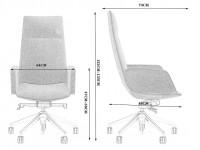 Image de l'article Fauteuil de bureau ergonomique 1901HB-129 - Noir