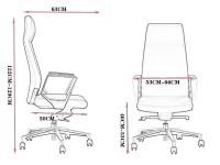 Image de l'article Fauteuil de bureau ergonomique DEH-01 - Noir