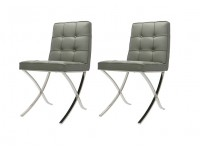 Image of the item Poltrona Barcelona Dining Chair - Grigio (2 Poltrone)