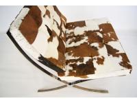Image of the item Poltrona Barcelona Pony - Marrone & bianco