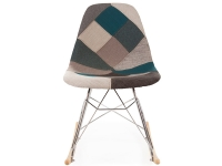Image of the item Rocking chair Cosy - Patchwork blu