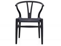 Image de l'article Wegner Chaise Wishbone CH24 - Hêtre naturel lacqué noir