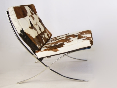 Image de l'article Chaise Barcelona Pony - Marron & blanc