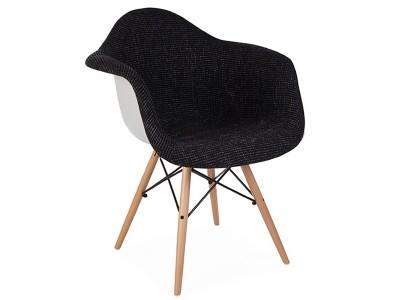 Image de l'article Chaise DAW rembourrée laine - Noir