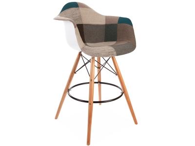 Image de l'article Chaise de bar DAB - Patchwork bleu