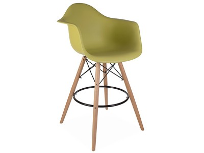 Image de l'article Chaise de bar DAB - Vert moutarde