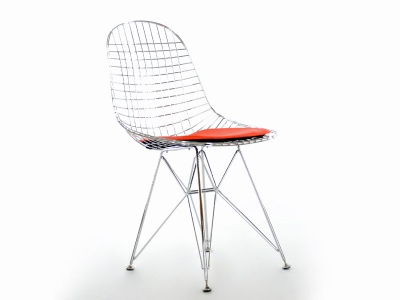 Chaise panton charles et ray eames orange chaises design for Chaise eames jaune moutarde
