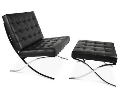 Image de l'article Chaise et ottoman Barcelona - Noir