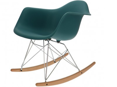 Image of the item Eames Rocking Chair RAR - Blu verde