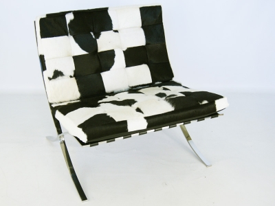Image of the item Poltrona Barcelona Pony - Nero & bianco