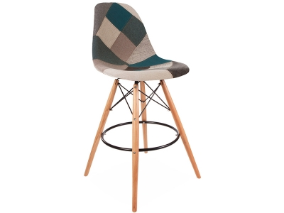 Image of the item Sedia di bar DSB - Patchwork blu