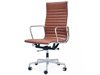 Image of the item Sedia Eames Alu EA119 - Cognac
