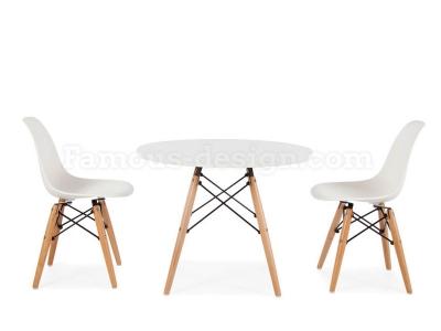 table enfant eames blanc. Black Bedroom Furniture Sets. Home Design Ideas