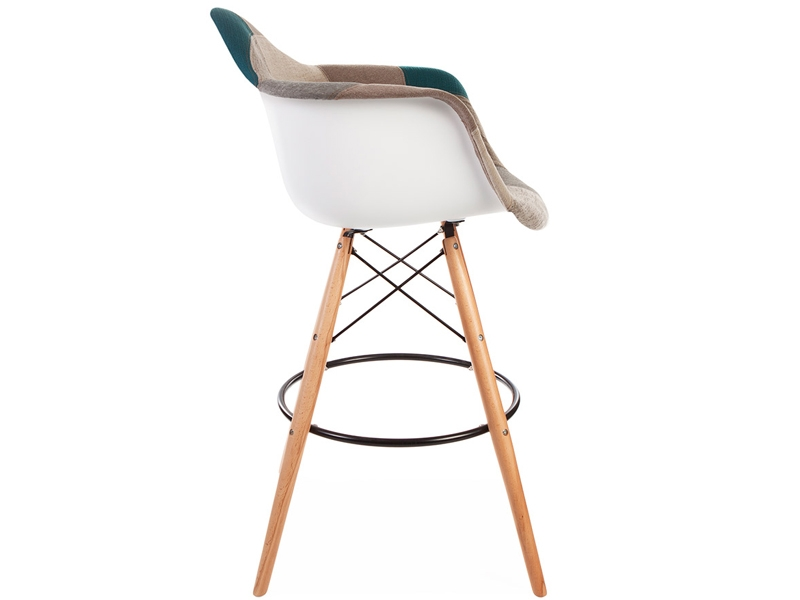 Image of the design chair Bar chair DAB - Blue patchwork