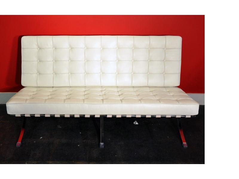 barcelona chair 2 seater white. Black Bedroom Furniture Sets. Home Design Ideas