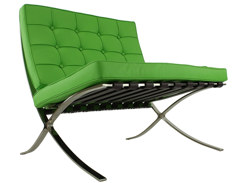 Image of the design chair Barcelona chair - Apple green