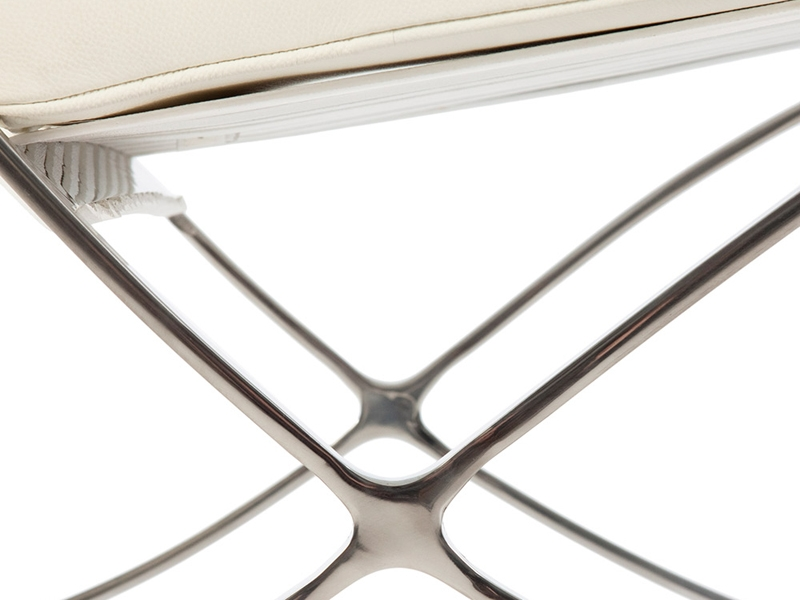 Image of the design chair Barcelona chair - Cream