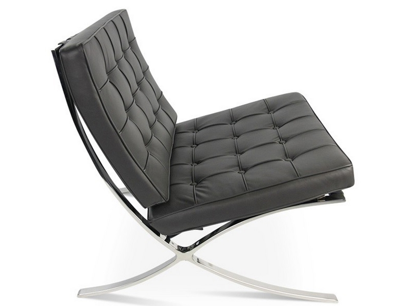 Image of the design chair Barcelona chair - Dark grey