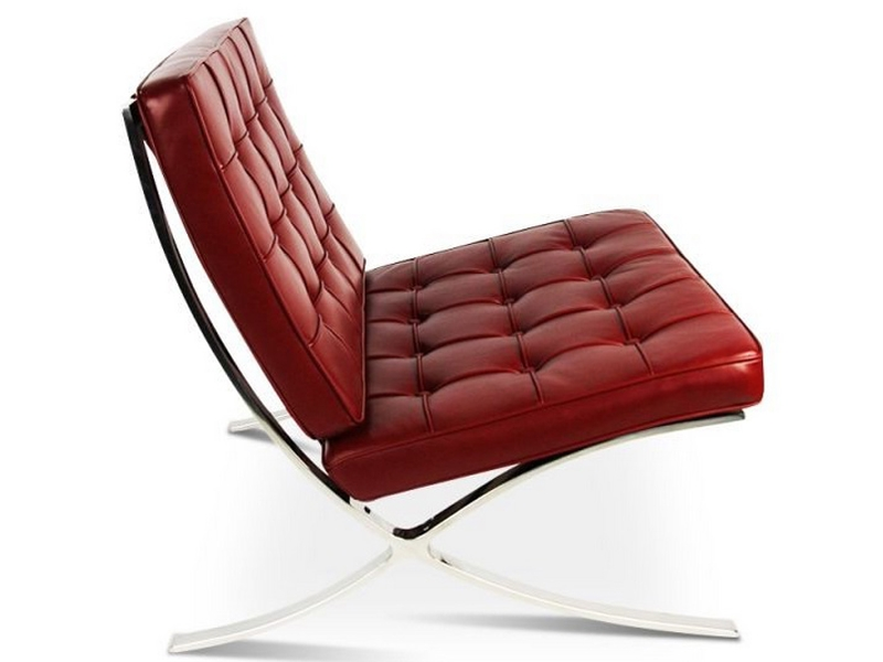 Image of the design chair Barcelona chair - Dark red