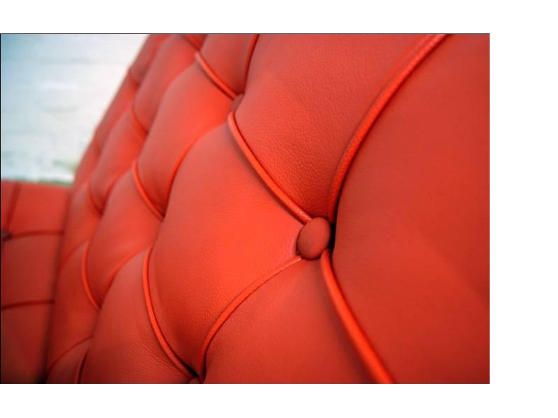Image of the design chair Barcelona chair - Red