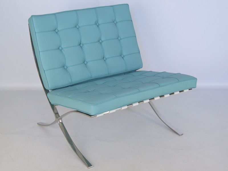 Barcelona chair sky blue for Barcelona sessel nachbau