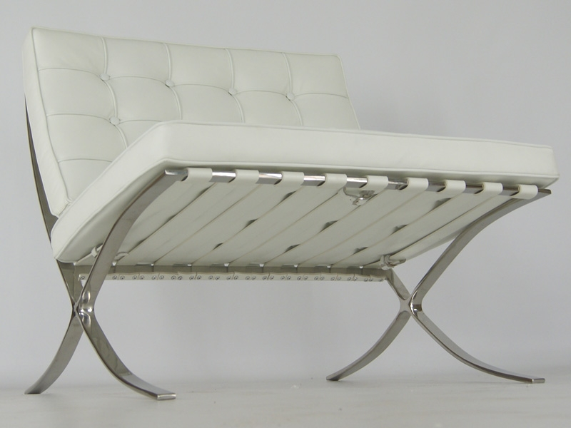 Image of the design chair Barcelona chair - White